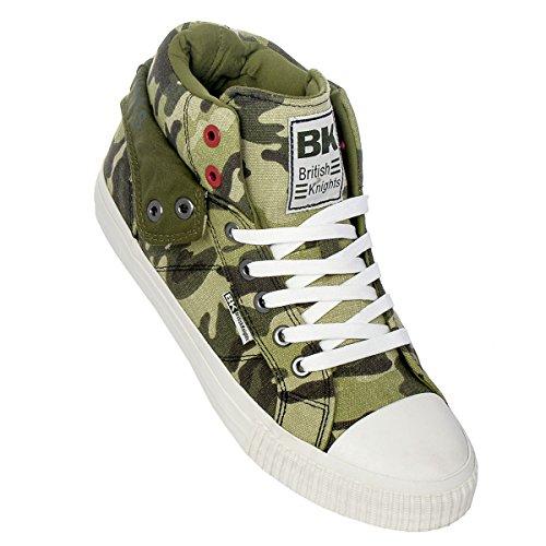 British Knights Roco Hommes Baskets Montante camouflage vert