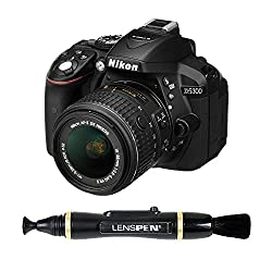 Nikon D5300 24.1MP Digital SLR Camera (Black) with 18-55mm VR II Kit Lens + 8GB Card and Camera Bag + Benro T600EX Digital Tripod Kit + Lenspen NLP-1 Cleaning Brush (Black)