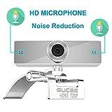 Webcam 720P, GUCEE HD92 HD Web Kamera mit Mikrofon, Skype Web Cam Webkamera Kompatibel Windows 10 / 8 / 7 / XP, Weitwinkel Webcam Webcamera für Mac, Macbook, PC, Laptop, Desktop, Notebook - 3