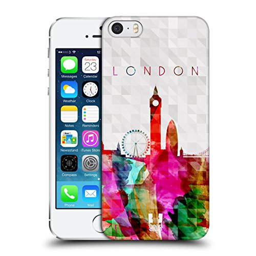 Head Case Designs Big Ben London Grossbritiannen Aquarell Skyline Snap-on Schutzhülle Back Case für Apple iPhone 5 5s Big Ben London England