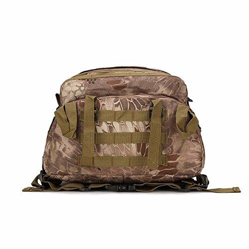 Wasserdichte Oxford Mountaineering Bag Outdoor Rucksack mann Taschen Umhängetaschen camouflage Sport Rucksack 46 * 33 * 18 cm, Python stria Schlamm Farbe Maple Leaf Camouflage