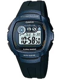Casio - W-210-1BVES - Montre Homme - Quartz Digitale - Cadran Gris - Bracelet Résine Noir