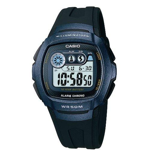 Casio Herren Digital mit Resin Armbanduhr W 210 1BVES