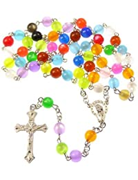 R Heaven - Católica rainbow redondo rosario multicolores