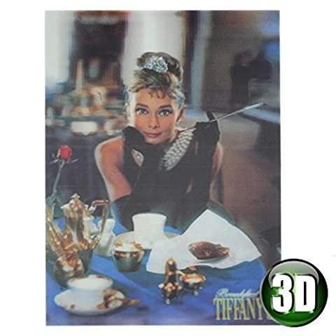Audrey Hepburn Breakfast At Tiffany's 3D Picture Wooden Wall Art