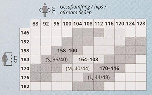 1 Stück Damen-Legging, 80 den, blickdicht, antibakteriell, keine Geruchsbildung, breiter Bund mit Zwickel, in Schwarz, Grau o. Rubin, S, M, L Grau