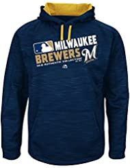 Majestic MILWAUKEE Brewers Authentic on de Field Sweatshirt MLB