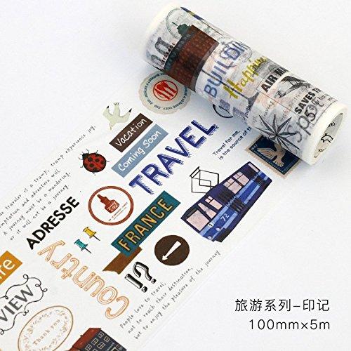 LDSEHUN washi tape Retro-Reise-Aufkleber Des Kühle Tonbetriebs Ultra Breite Papierbands Ganze Hand, Impressum
