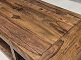 WOHNLING Couchtisch Massiv-Holz Sheesham 120 cm breit Wohnzimmer-Tisch Design dunkel-braun Landhaus-Stil Beistelltisch Natur-Produkt Wohnzimmermöbel Unikat modern Massivholzmöbel Echtholz rechteckig - 4