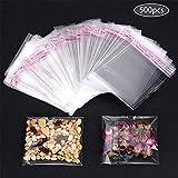 Faburo 500pz Bustine trasparenti per confetti, 7 * 10cm Bustine di plastica con chiusura richiudibile