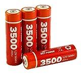 MC POWER - 4er-Pack Mignon / AA Akkus | 1,2V, NiMH | für Fernbedienungen, Taschenlampen, Modellautos, Uhren, Uhrwerke, uvam.