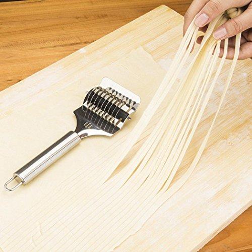 HCFKJ Edelstahl Spaghett Nudelmaschine Gitter Roller Docker Teigschneider Werkzeug