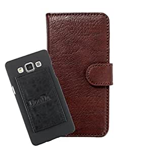 DooDa PU Leather Wallet Flip Case Cover With Card & ID Slots For Wickedleak Wammy Passion Z - Back Cover Not Included Peel And Paste