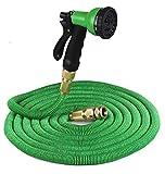 RTUHGF Autowaschwasserpistole teleskopischer Schlauchautowaschwasserpistole-Bewässerungsschlauch Wasserpistolegarten-Bewässerungsblumen-Wasserpistole,grün