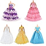 Toy - BESTIM INCUK 5-Piece Doll Accessories Handmade Fashion Party Gown Wedding Dresses & Clothes for Barbie Doll
