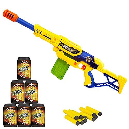 X-Shot - Rifle con cargador de dardos & latas (ColorBaby 44212)
