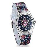 Avaner Damenuhr Kinderuhr Mädchen Armbanduhr Bunte Sonnenblume Blumen Muster mit Silikonarmband rundes Zifferblatt arabische Ziffer Analog Quarz Uhr Liebe Geschenk Armbanduhr