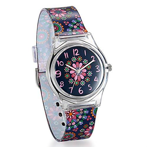 Reloj Niña Mujer Reloj Analogico Colores Floral Flores