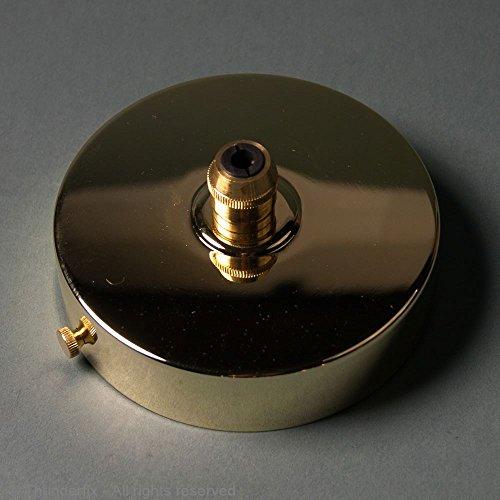 laiton poli 100 mm Luminaire plafond plaque de couverture avec cordon prise en main