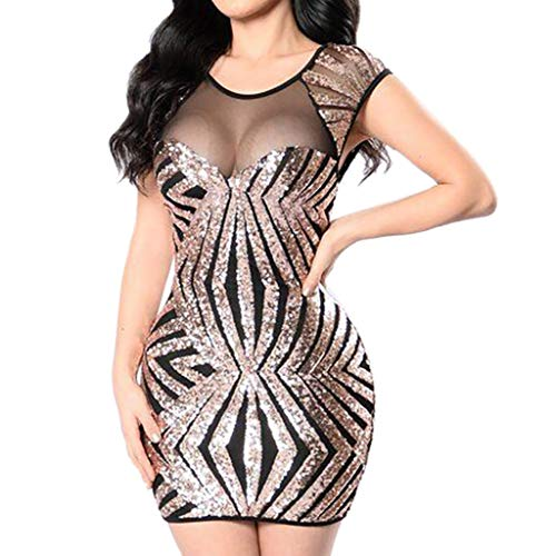 Gusspower Vestido Fiesta Mujer Corto Sexy Ajustado