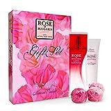BioFresh Rose of Bulgaria Geschenkset Eau Du Parfum 50 ml, 3X schöne rosa Seife und Handcreme