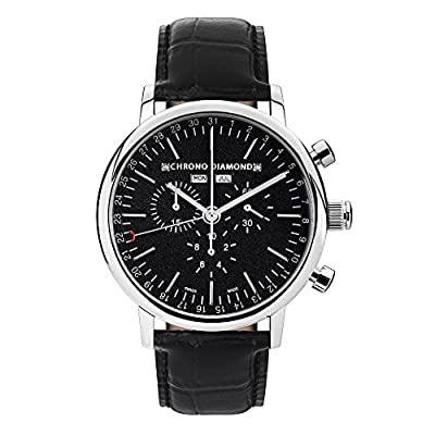 Chrono Diamond Watch Analogue Display and Stainless Steel Strap 82166