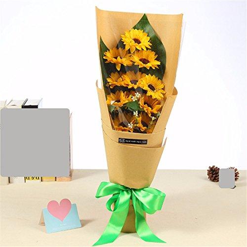 Die Weihnachtsgeschenke Lehrer Tag Geschenk, Vatertag Geschenk, das Sun Flower Duft Seife flower Gift box Blume sendet Daddy Lehrer -
