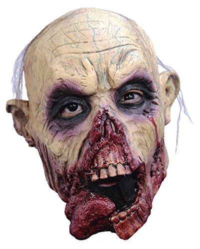 Zombie Walker Beißer Tongue Maske mit (Latex Beißer Maske)