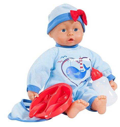 Bayer Design 9383900 - Funktionspuppe I love you Baby mit 24 lauten, 38 cm, hellblau Preisvergleich