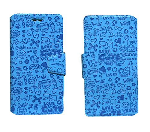 J Cover Taddy Series Leather Pouch Flip Case With Silicon Holder For Micromax A72 Canvas Viva Blue  available at amazon for Rs.490