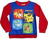 Pokemon Pullover Kollektion 2016 Sweatshirt 104 110 116 122 128 134 140 146 152 Jungen Pikachu Rot-Blau (110, Rot-Blau)