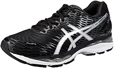 ASICS Men's Gel-Nimbus 18 (4E) Black, Silver and Carbon Running Shoes - 10 UK/India (45 EU)(11 US)