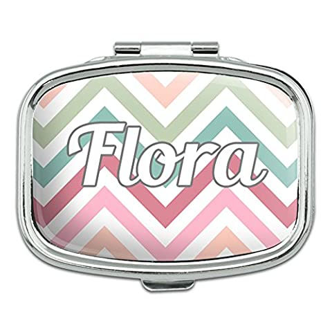 Rectangle Pill Case Trinket Gift Box Names Female Fl-Fu -