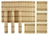 Yun Hai Bamboo Dinning Table Placemats With Tea Coasters, (4 Pieces Mats, 4 Pieces Coasters)