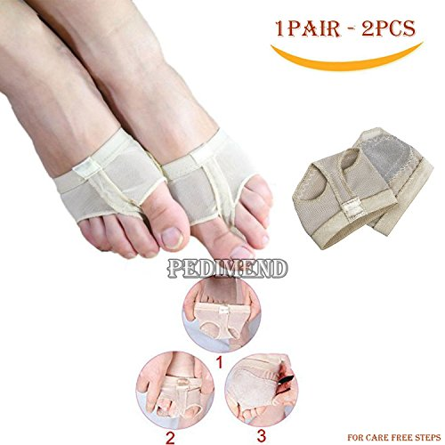 Pedimend Breathable Professional Ballet Dance Foot Pad - Shoes Protection Dance Socks - Stretchy Split Toe Half Sole Forefoot Pads Pillow - Activate Blood Circulation - Relieves Stress - foot care - Über Ballet Shoes