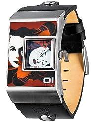 Binary THE ONE - Reloj de unisex, correa de piel - color negro