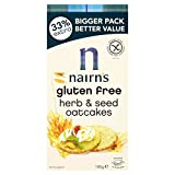Nairns Gluten Free Herb and Seed Oatcakes 180 g (Pack of 8)