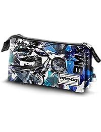 PRODG PRODG Triple Pencil Case BMX Trousses, 23 cm, Multicolore (Multicolored)