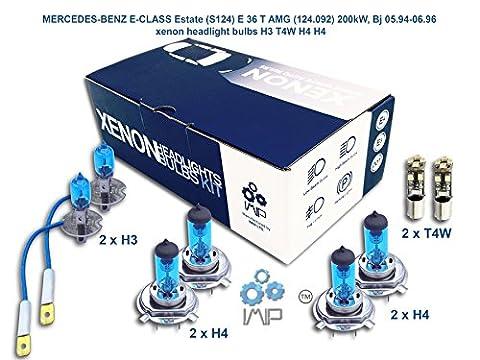 MERCEDES-BENZ E-CLASS Estate S124 E 36 T AMG 124.092 200kW, Bj 05.94-06.96 xenon headlight bulbs H3 T4W H4 H4