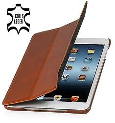 Die StilGut iPad mini Hülle Couverture verbindet Funktionalität mit elegantem Design: Das schlanke Case schützt Ihr iPad mini 3 vor Abnutzung und Beschädigung und ist gleichzeitig eine zuverlässige Standhilfe.  Passgenaue Aussparungen für Funktion...