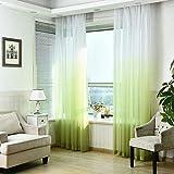 Tenda per finestre a gradiente colorata - Gradiente colorato per porte e finestre Pannello per tendine trasparenti per camera da letto, bagno, soggiorno 100 x 270 cm