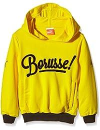 PUMA Sweatshirt BVB Fan Hoody - Prenda, color amarillo, talla 128