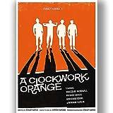 Uhrwerk Clockwork Orange Film Film Poster Vintage Retro-Stil Leinwand Wand Kunstdruck Bild groß Klein