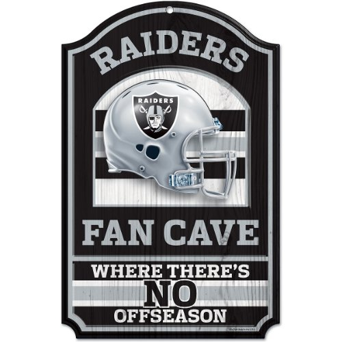 NFL Fan Cave 28 x 43 cm, Oakland Raiders, One Size Fits All ()