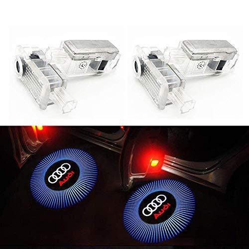 HConce Einstiegsbeleuchtung Tür Licht Logo Projektor Autotür Logo Projektion 4 Stück (S5 Audi Modell)