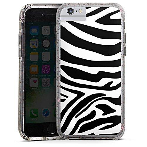 Apple iPhone 6 Bumper Hülle Bumper Case Glitzer Hülle Zebra Animal Dschungel Bumper Case Glitzer rose gold