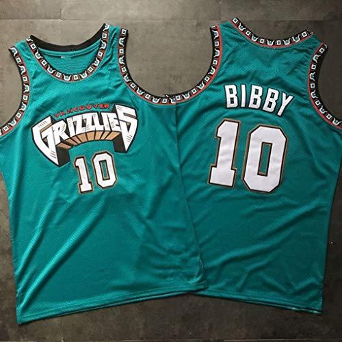 WSF Jersey New Stoff gestickter Männer Basketball-Trikots # 10 Mike Bibby Memphis Grizzlies, Unisex Sleeveless T-Shirt, Basketball-Trikot Swingman Anzug (Color : Green, Size : L)