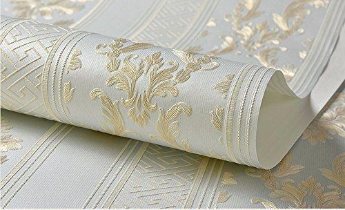 Preisvergleich Produktbild Non-Woven Stofftapeten im Europäischen Stil, Schlafzimmer Tv Hintergrund Tapete Wohnzimmer Wallpaper Wallpaper 0,53 m * 10 m, B - Blau