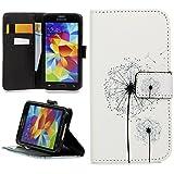Handy Lux® Schutz Hülle Tasche Kartenfächer Flip Case Etui Cover Involto Motiv Design Hülle BookStyle für Samsung Galaxy J5 (2017) DUOS - Pusteblume