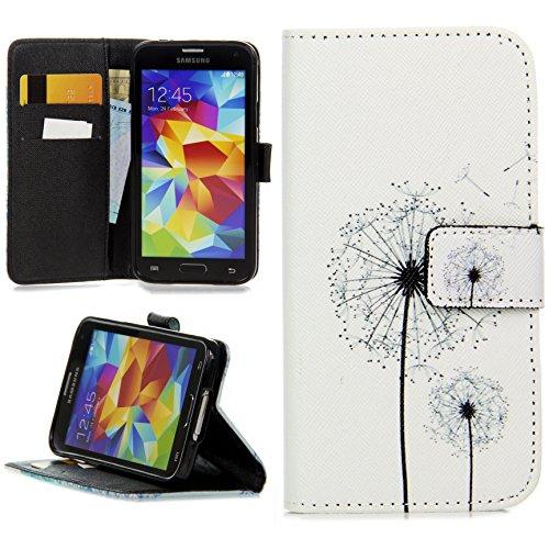 Handy Lux® Schutz Hülle Tasche Kartenfächer Flip Case Etui Cover Involto Motiv Design Hülle BookStyle für Samsung Galaxy S3 / S3 NEO, Pusteblume